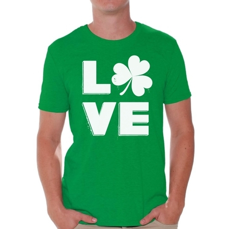 Awkward Styles Love Shamrock Shirt St. Patricks Day T Shirt for Men Gifts for Irish St Patricks Gift for Him Proud Irish Mens Shirt Irish Shamrock Tshirt Irish Pride Mens Irish Shirt St Patrick Tshirt - Shamrock Skirt