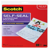 Scotch Self-Seal Laminating Pouches 10 Pack, Letter Size Sheets