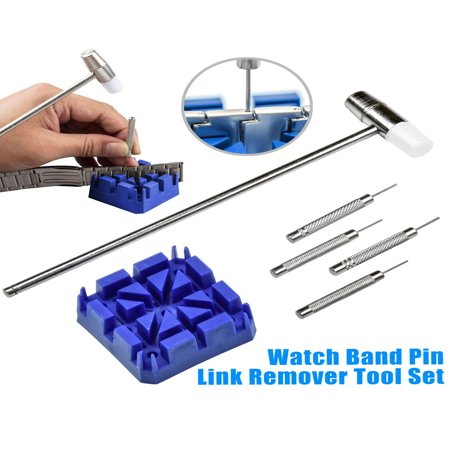 TSV Trading 6 Piece Watch Band Link Remover Repair Tool Kit (Kit Bond)