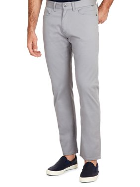 Straight-Fit Stretch-Cotton Pants