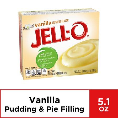 Jell-O Vanilla Instant Pudding Mix, 5.1 oz Box