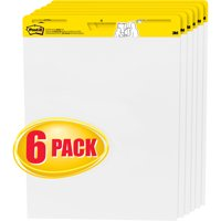 Post-it Self-Stick Easel Pads Value Pack, 25 x 30-Inches, White, 30-Sheets/Pad, 6 Pads/Pack