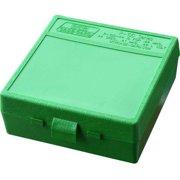 "MTM P-100 FLIP-TOP PISTOL AMMO BOX 1.85"" OAL GREEN POLY"