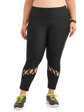 New York Laundry Women's Criss Cross Legging with Side Pockets (SIZES S-3X AVAILABLE)
