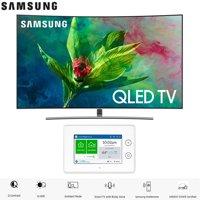 """Samsung QN55Q7CNA QN55Q7 QN55Q7C 55Q7CNA 55"""" Q7CN QLED Curved Smart 4K UHD TV (2018 Model) with SmartThings ADT Home Security Starter Kit - (F-ADT-STR-KT-1)"""