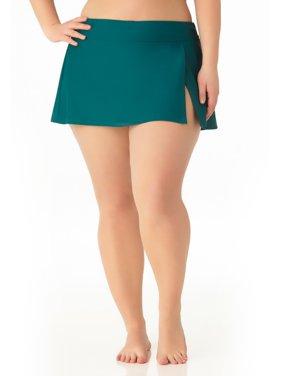 Catalina Women's Plus Size Teal Skirted Swim Bottom