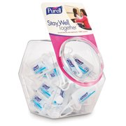 PURELL® JELLY WRAP™ Carrier Display Bowl with 1 fl oz Flip Cap Bottle, 25 count