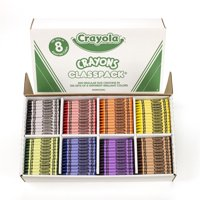 Crayola Crayon Classpack, 8 Colors, Pack of 800