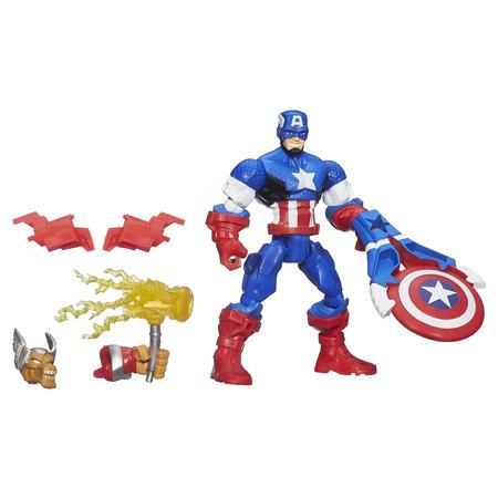 Captain America C (Marvel Super Hero Mashers Battle Upgrade Captain America Action)
