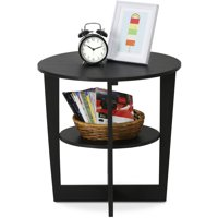 Furinno 15019WN Oval End Table, Walnut