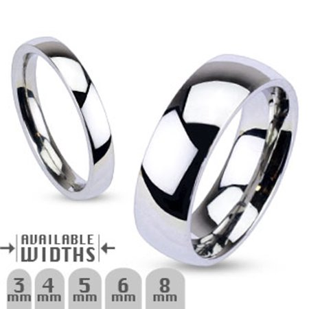 Stainless Steel 316 High Polished Wedding Band Ring Width 03 mm Size 10 Design Stainless Steel Band