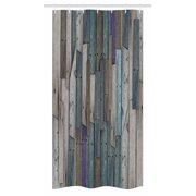 Wooden Stall Shower Curtain Blue Grey Grunge Rustic Planks Barn House Wood And Nails Lodge