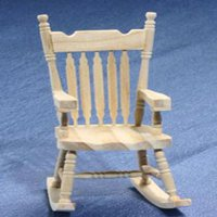Dollhouse Unfinished Rocking Chair