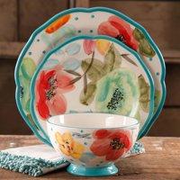 The Pioneer Woman 12-Piece Decorated Dinnerware Set, Walmart Exclusive