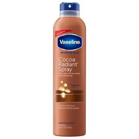 Vaseline Intensive Care Cocoa Radiant Spray Lotion, 6.5