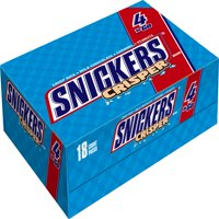 Snickers Crisper Chocolate Candy Bars, 2.83 Oz., 18 Count
