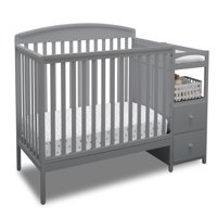Delta Children Royal Convertible Crib N Changer, Gray