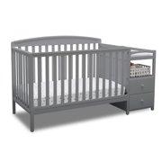 Delta Children Royal Convertible Crib N Changer, Gray