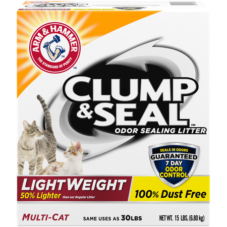 Arm & Hammer Clump & Seal Lightweight Cat Litter, Multi Cat,
