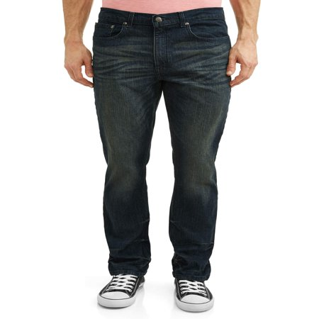 Athletic Leather Jeans (Men's Athletic Fit Jeans)