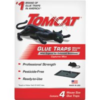 Tomcat Glue Traps Mouse Size with Eugenol for Enhanced Stickiness, 4 pk