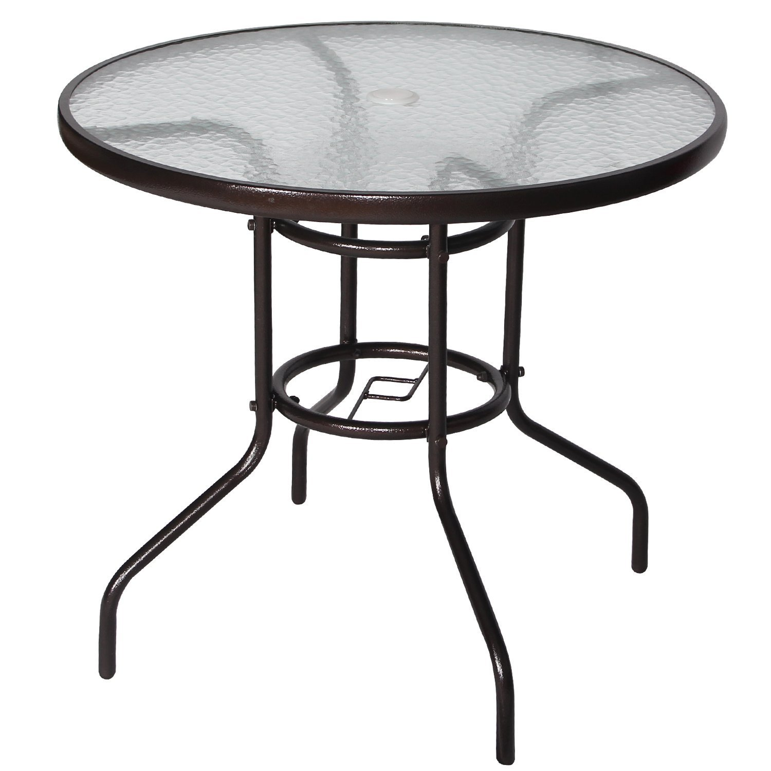 Round outdoor metal table Expanded Metal Cloud Mountain 32 Walmart Metal Round Patio Tables