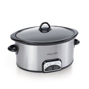 Crock-Pot 7-Quart Smart-Pot Slow Cooker, Brushed Stainless Steel