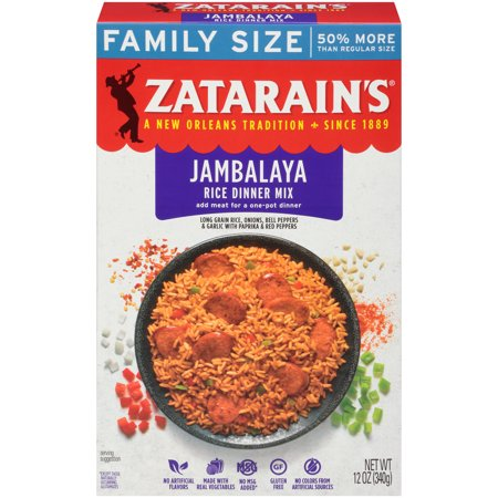 Zatarain's Jambalaya Rice Dinner Mix, Family Size, 12