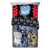 Transformers Kids Bedding 2Pc Comforter & Sham Set, Twin/Full, Reversible, Autobot Strong