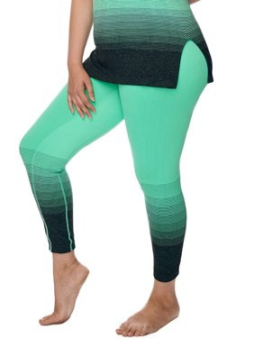Under Control Women's Plus Size Active Control Waistband Yoga Pants with Ombre Graphic