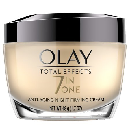 Olay Total Effects Anti-Aging Night Firming Cream, Face Moisturizer 1.7 fl oz (High Potency Night Moisturizing Cream)