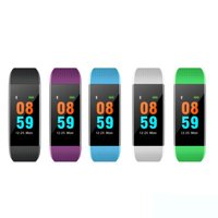 i9 Smart Bracelet Fitness Tracker Activity Tracker Black for iPhone Android Touch Screen Color Display USB Charge Heart Monitor