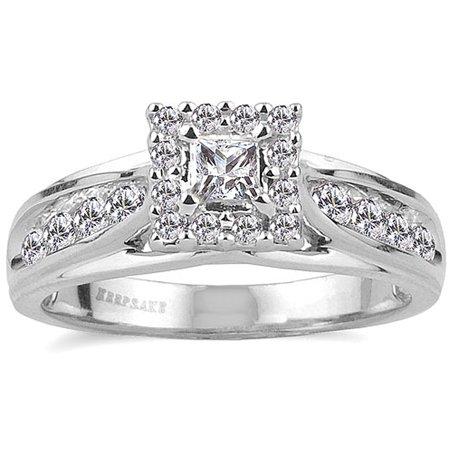 Melody 1/2 Carat T.W. Certified Diamond 10kt White Gold Ring - Faux Diamond Rings