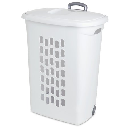 Sterilite Ultra Wheeled Laundry Hamper, White