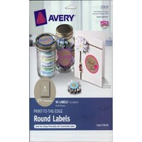 Avery Label Print-To-The-Edge Rnd Kraft Brn 90pc