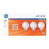 GE   Incandescent Light Bulb  40 watts 370 lumens 2800 K Globe  G25  Medium Base (E26)  3 pk