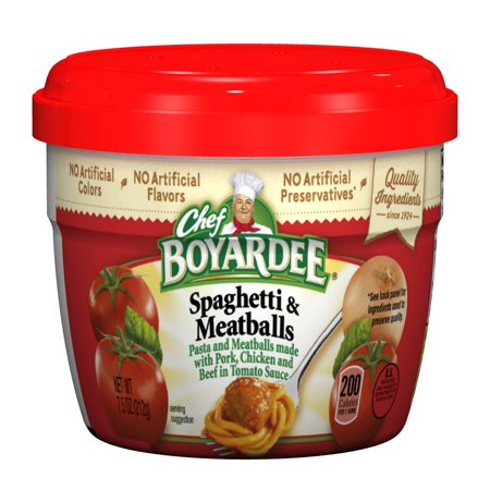 Chef Boyardee Spaghetti & Meatballs in Tomato Sauce, 7.5 Oz. - Halloween Party Food Meatballs