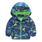 f3f2fc7ba6 Kids Baby Boys Hooded Zipper Cartoon Print Jacket Toddler Coat Outerwear