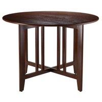 Winsome Wood Alamo Double Drop Leaf Dining Table, Walnut Finish