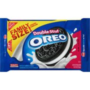(3 Pack) Oreo Double Stuf Cookies, Family Size, 20 Oz