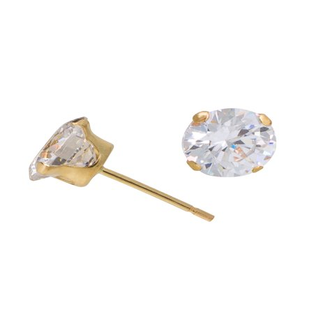 10kt Yellow Gold 5mm Round CZ Stud Earrings (Marc Jacobs Gold Stud Earrings)