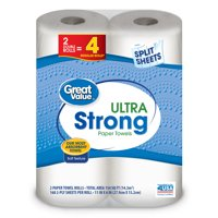 Great Value Paper Towels, Ultra Strong, 2 Count
