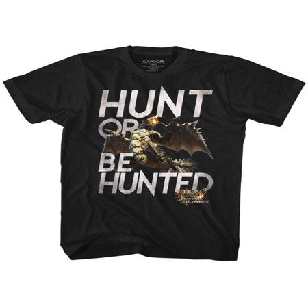 Monster Hunter Video Game Hunt Black Adult T-Shirt Tee ()