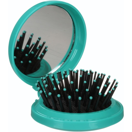 (4 Pack) MON IMAGE POP-UP HAIRBRUSH WITH MIRROR