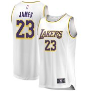 e8748434d3a LeBron James Los Angeles Lakers Fanatics Branded 2018 19 Fast Break Replica  Jersey White -