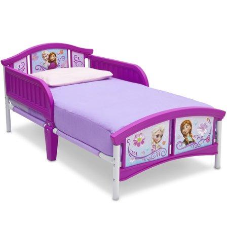 disney frozen plastic toddler bed by delta children. Black Bedroom Furniture Sets. Home Design Ideas