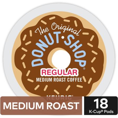 The Original Donut Shop Regular Coffee, Keurig K-Cup Pods, Medium Roast, 18