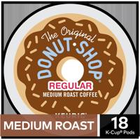 The Original Donut Shop Regular Coffee, Keurig K-Cup Pods, Medium Roast, 18 Count