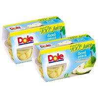 (8 Pack) Dole Fruit Bowls, Diced Pears in 100% Fruit Juice, 4 Ounce (4 Cups)