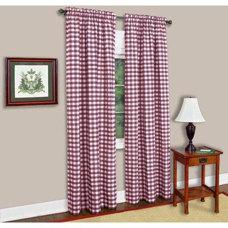 Achim Buffalo Check Window Curtain